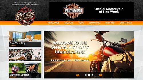 motorcycle website design
