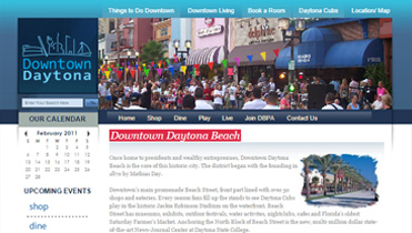 Downtown Daytona Beach Web Design