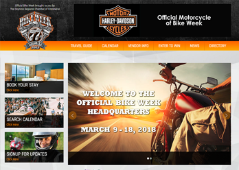 Bike Week homepage