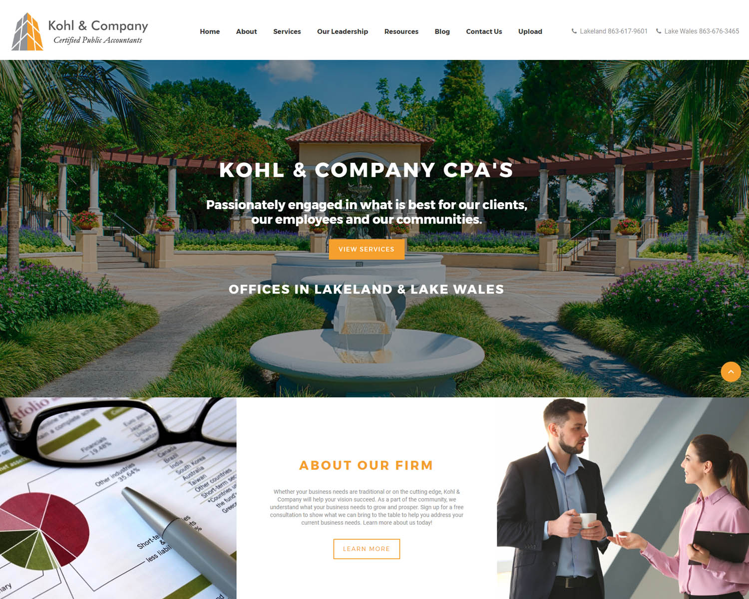 Florida CPA Website Design Example
