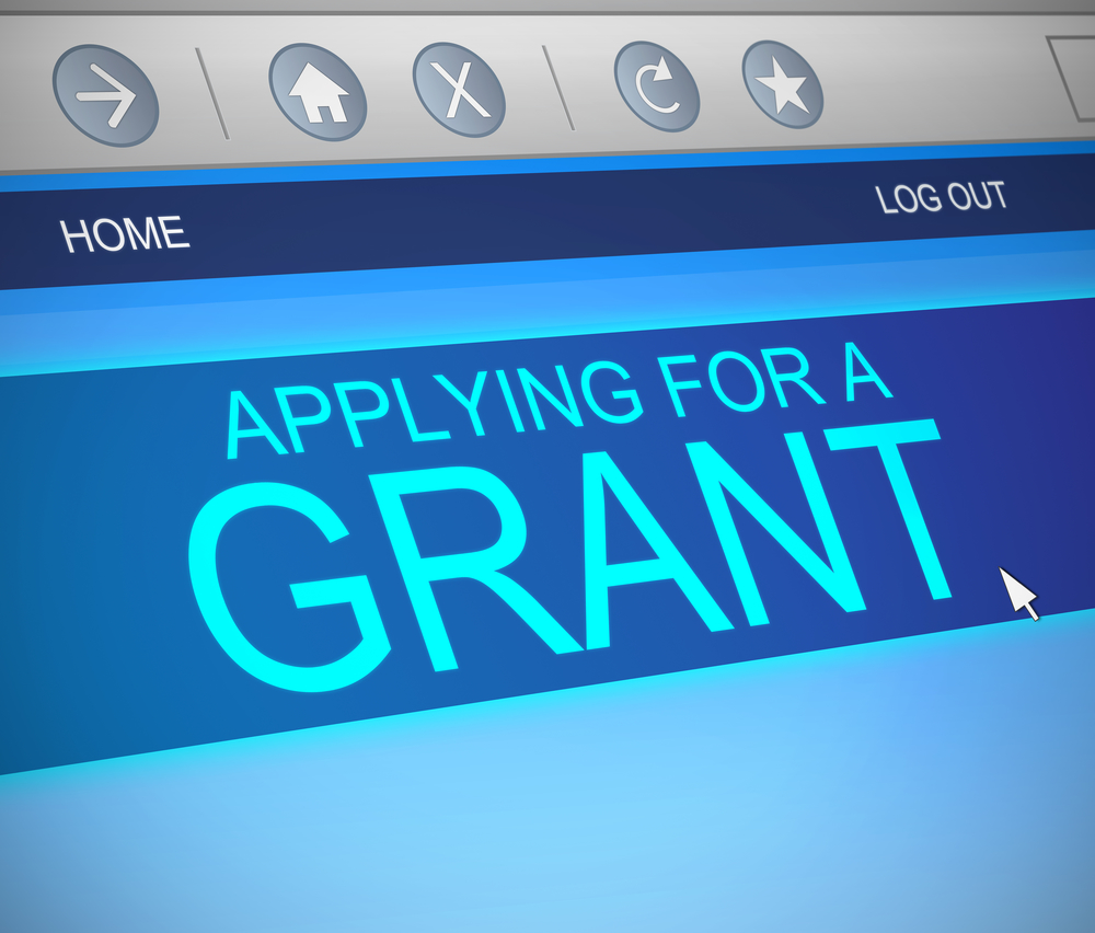 Applying online for a grant.