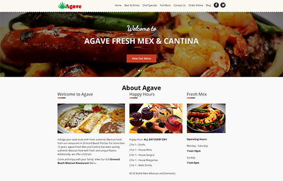 Daytona Beach Restaurant Web Design