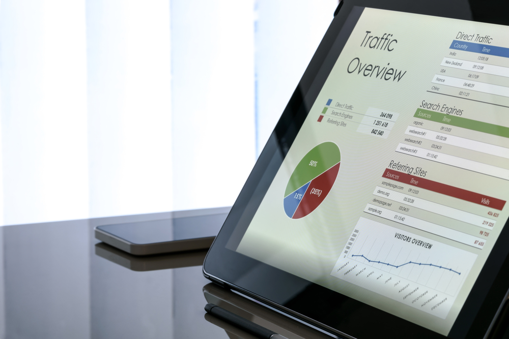 Analytical data on a tablet