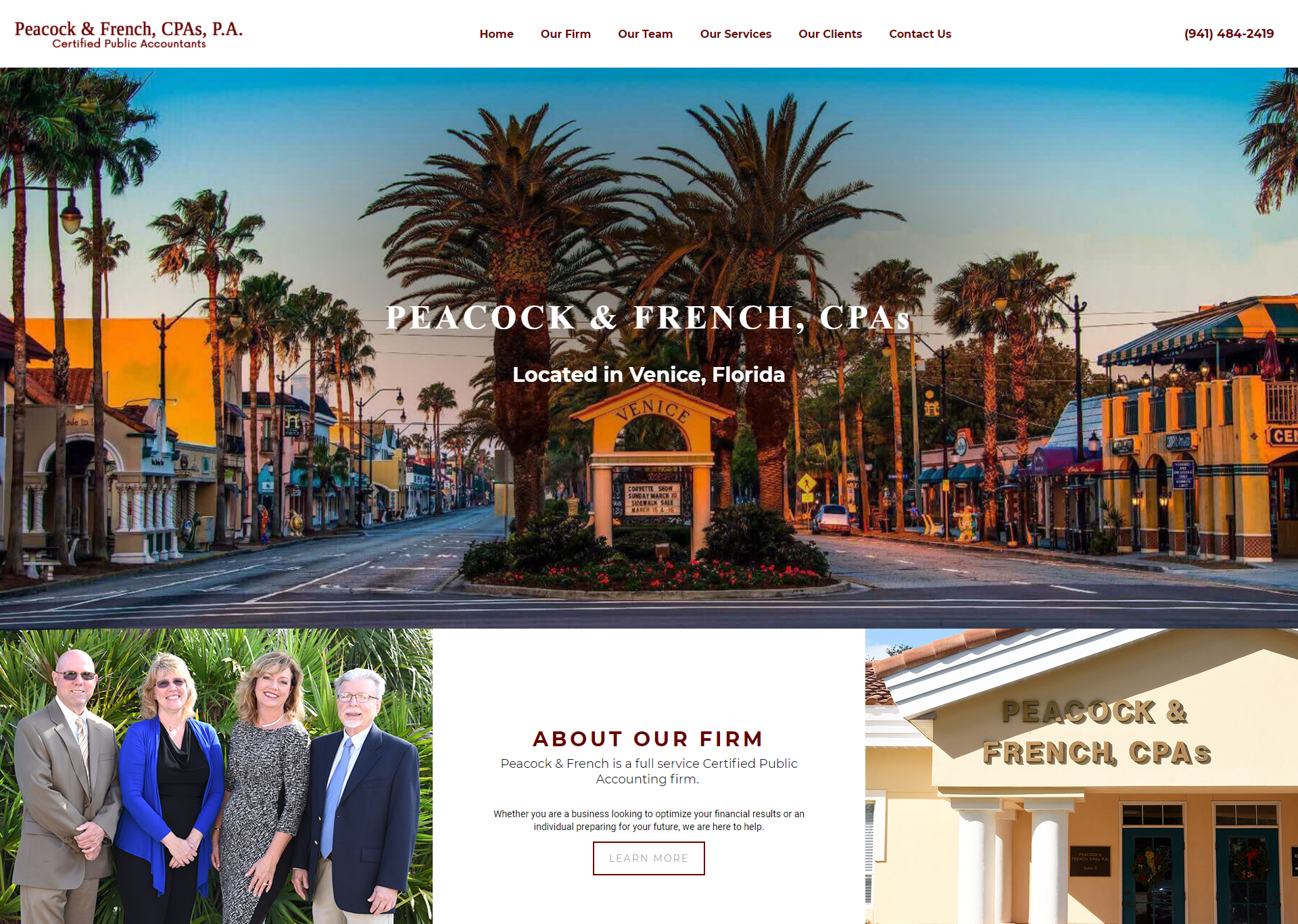 Example of a Website for a CPA Firm